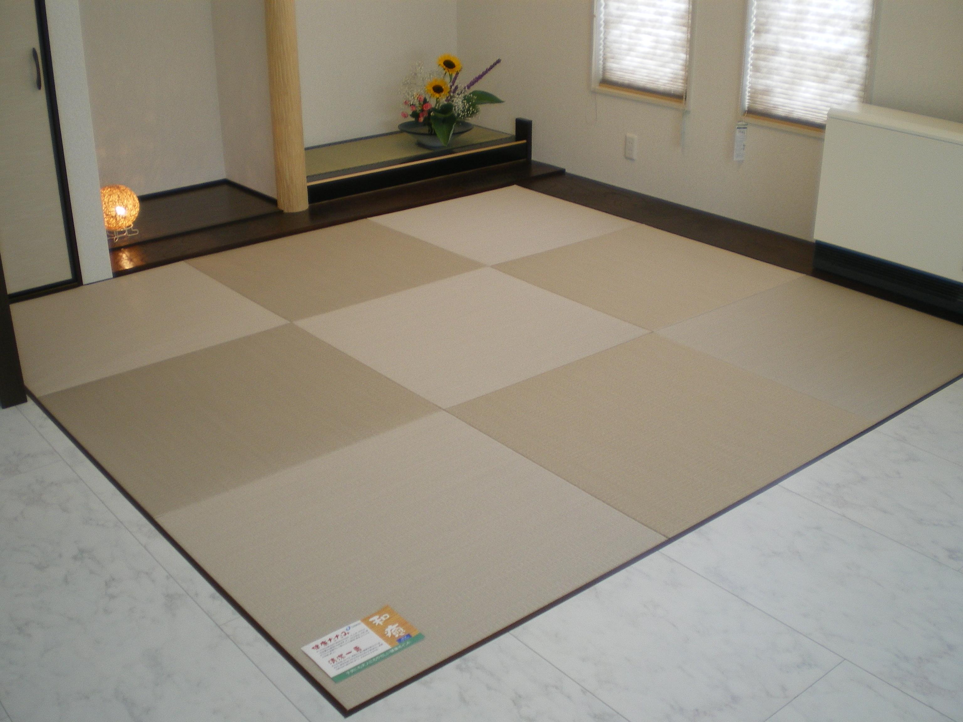 へりなし琉球畳(白茶色)
