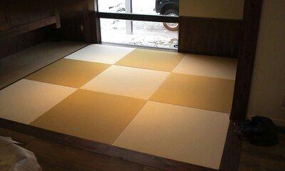へりなし琉球畳(乳白色×黄金色)