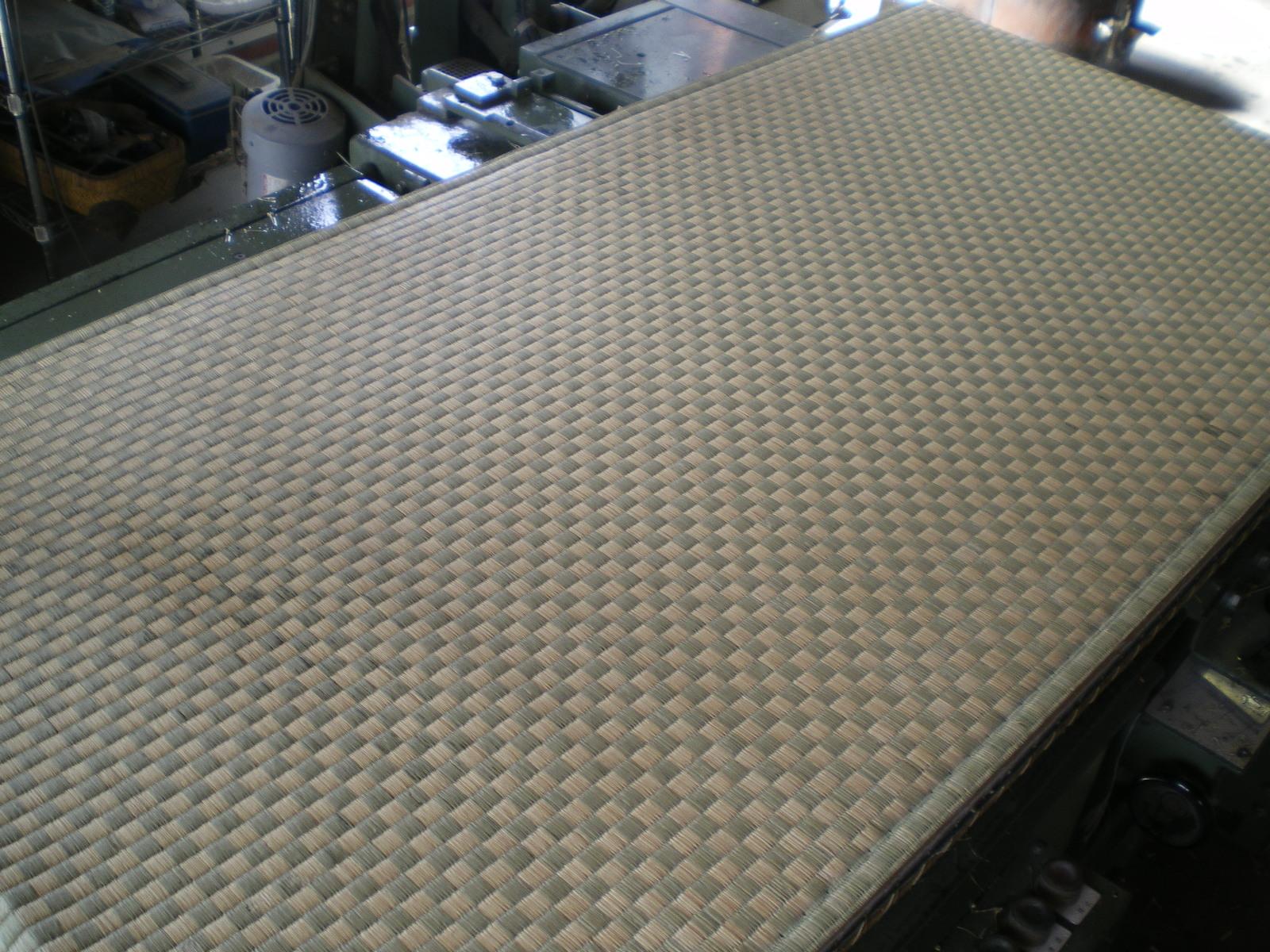 市松柄の畳表替え