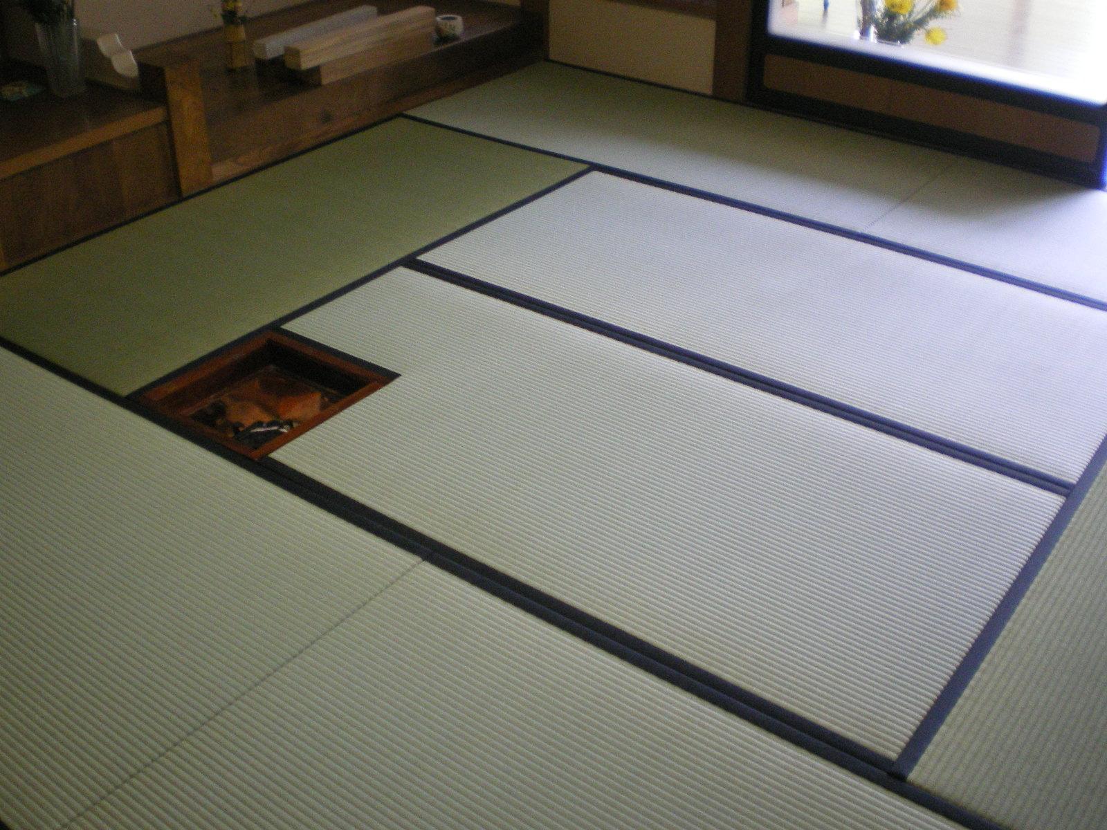 茶室新畳入れ替え(国産ブランド畳表)