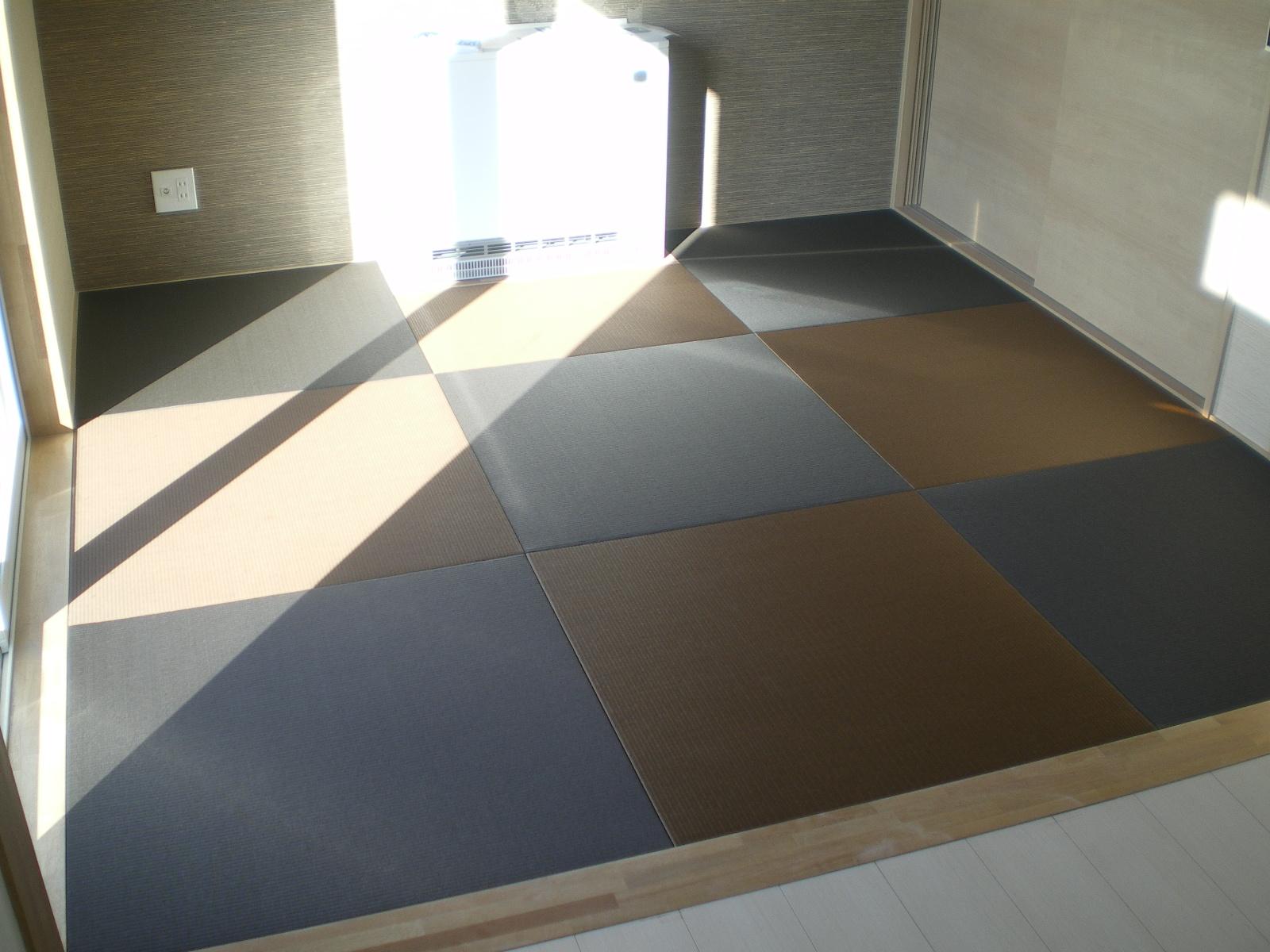 へりなし琉球畳(胡桃色×栗色)
