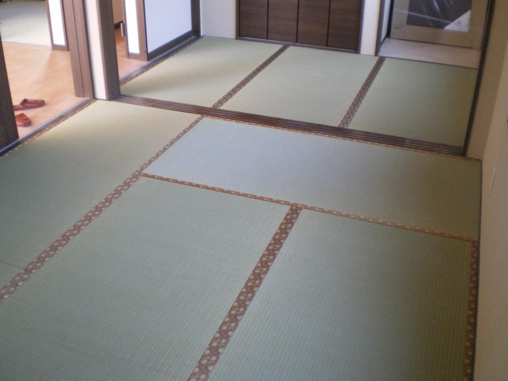 へりなし琉球畳(亜麻色)※「なぎれ」のお部屋