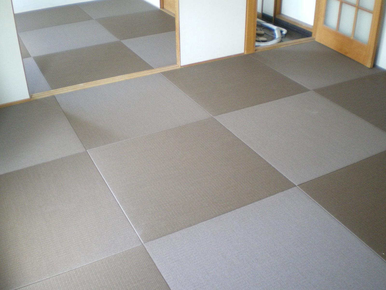 へりなし琉球畳(カクテルフィット栗色×胡桃色)