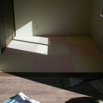 へりなし琉球畳(乳白色×薄桜色)